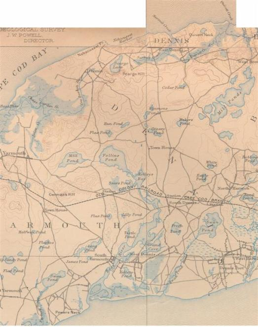 1893 USGS Map Care of UNH Historic Map Library